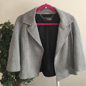 Michael Kors 3/4 sleeve jacket black and white